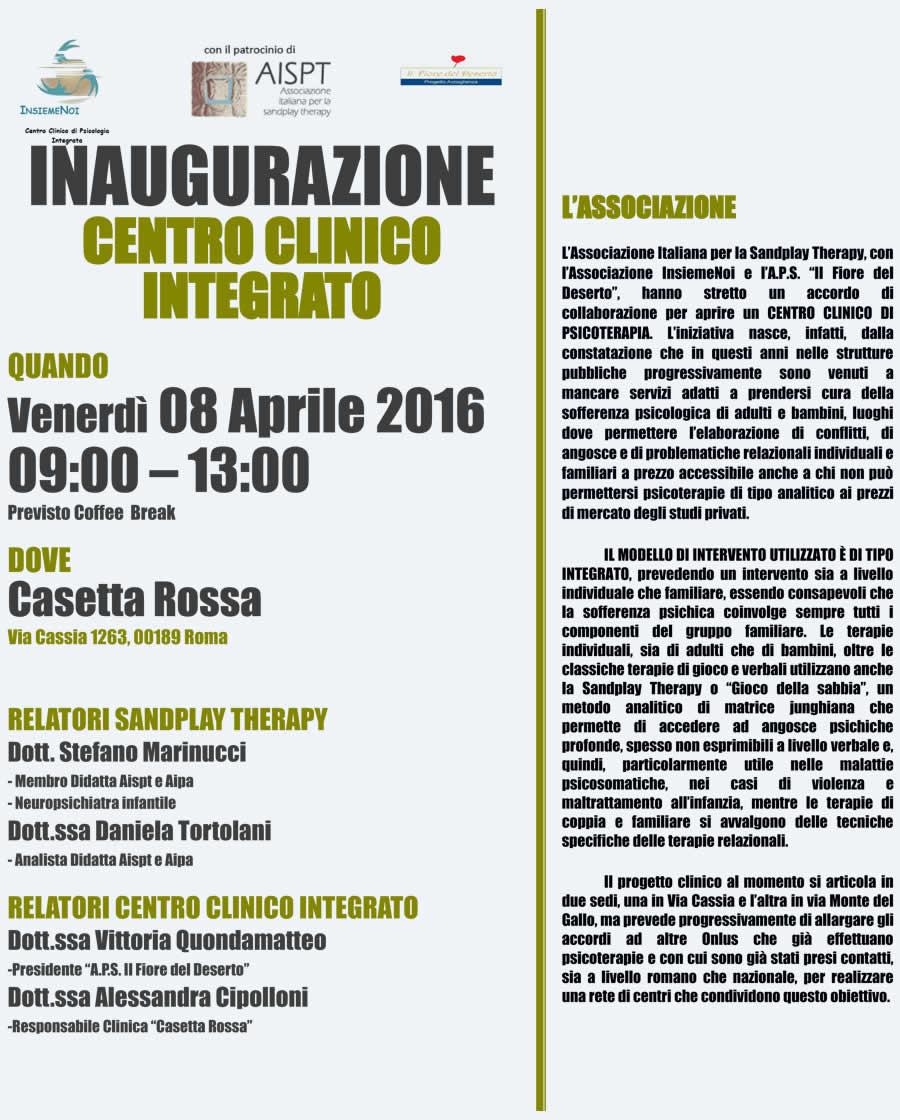 AISPT - News - Eventi - Inaugurazione Centro Clinico integrato - Venerdì 8 Aprile 2016